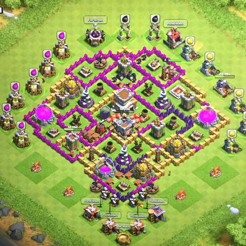 Clash of Clans Burg - (Games, iPad, clash of clans)