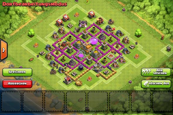 Base 2 - (clash of clans, Rathaus 7)