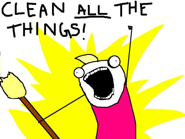 clean all the things! - (Uebersetzung, MEME)