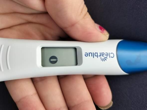Clearblue Test was bedeutet das dadrauf?