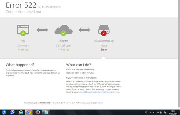 Das Bild - (Website, Error, cloudflare)