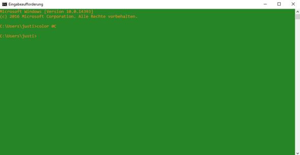 Hier: Alles abgegrünt - (Programm, Grafik, Windows 10)