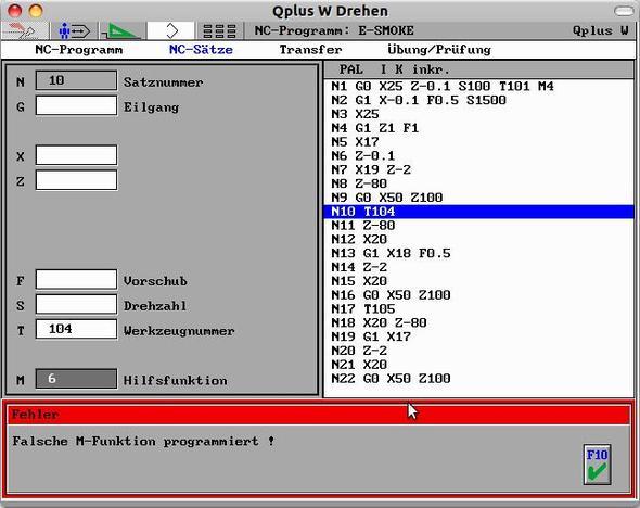 Fehler beim Befehl M06 - (programmieren, Industrie, drehen)