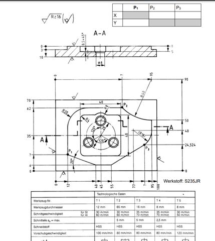 CNC Programmierung Plan richtig lesen und Punkte bestimmen aber wie?