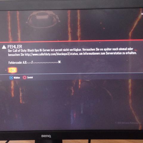 Fehlermeldung wenn man online spielen möchte. - (PS4, Call of duty)