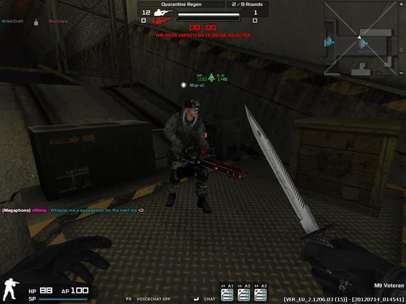 red minigun!!! xD - (Computer, Games, Combat Arms)