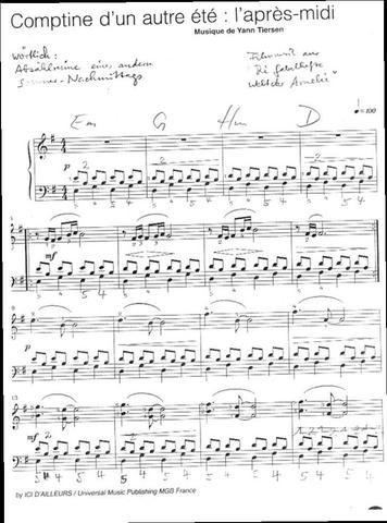 die fabelhafte welt der amelie piano