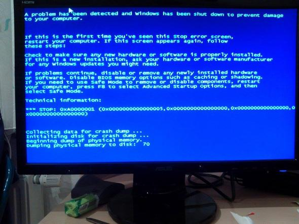 Bluescreen - (Computer, PC, Bluescreen)