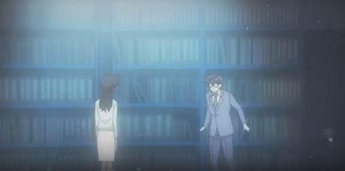 Die Szene, in der er in diese Bibliothek als jugendlicher Conan kommt. - (Anime, Folgen, Detektiv Conan)