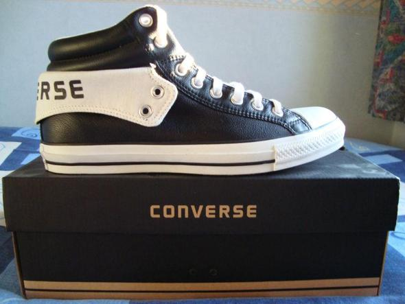 converse fold schwarz wei leder schuhe. Black Bedroom Furniture Sets. Home Design Ideas