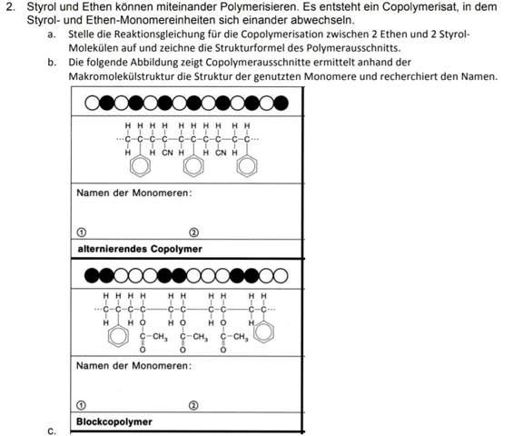 Copolymerisation von Styrol und Ethen?