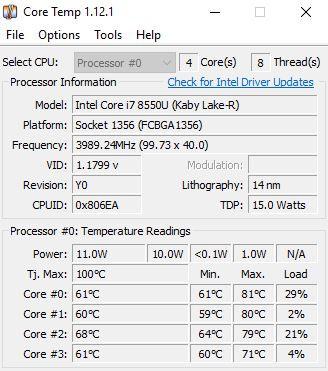 Core Temp/ Was zeigt es an und worauf muss ich achten?