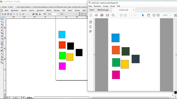Nach der Umwandlung in PDF - (Computer, Software, corel draw x3)