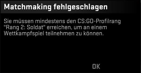 Cs ist nicht mit Matchmaking-Servern verbunden