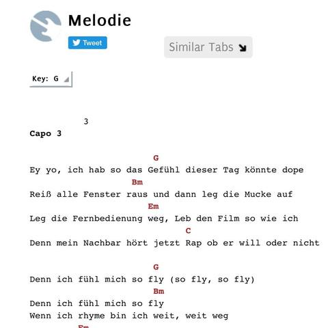 Cro Melodie Gitarren Akkorde Musik Song Rap