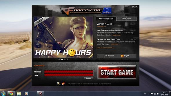 Nach öffnen vom launcher/updater-> START GAME - (Fehlermeldung, Datei, Crossfire)