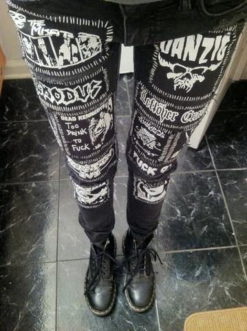punk jeans selber machen