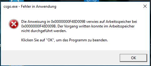 CSGo Fehlermeldung - (PC, Games, PC-Games)