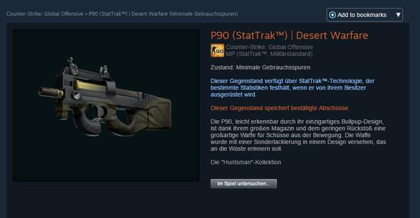 P90 - (Steam, Counter-Strike, CS)