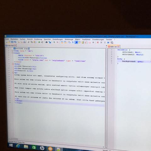 Hier der besagte Code.. - (html, CSS)