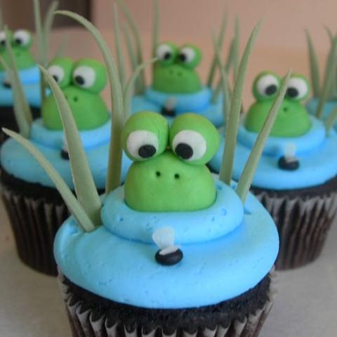 Cupcakes Ist Die Dekoration Aus Marzipan Rezept Backen Kuchen