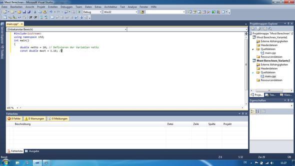 screenshot vom Cursor - (programmieren, Visual Studio, C-plus-plus)