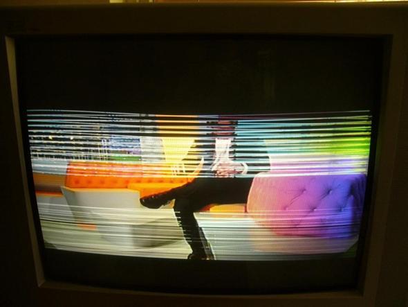 Streifenbild beim Einschalten - (Fernseher, Bildschirm gestreift)