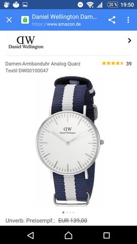 Eine Daniel Wellington Uhr (Für die, die nicht wissen, wie sie aussieht) ;) - (Armbanduhr, DanielWellington, MadisonNewYork)