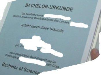 Urkunde einer Berufsakademie - (Studium, Abschluss, Bachelor)