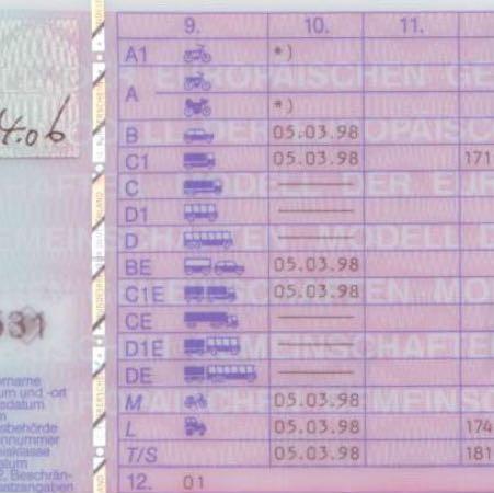..... - (Führerschein, Motorrad, Fahrerlaubnis)