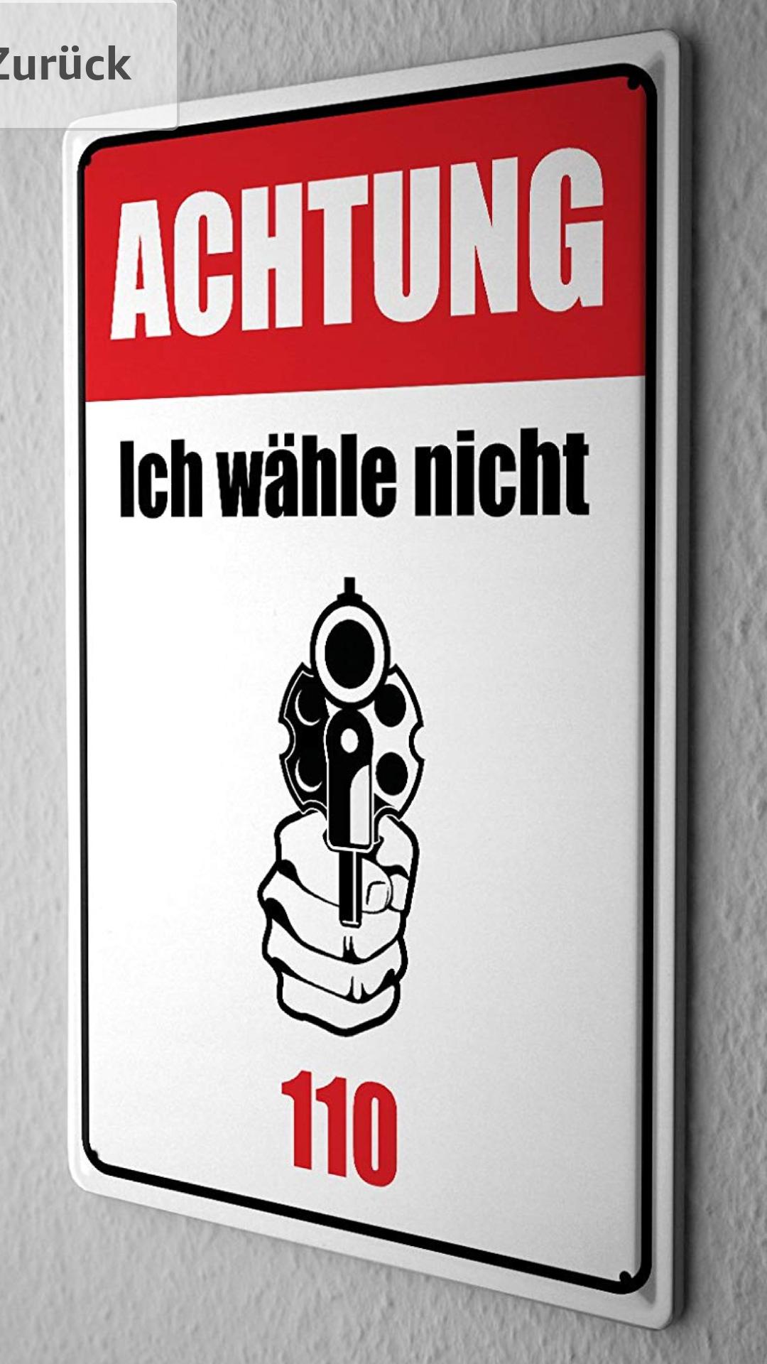 Darf ich dieses Schild neben meiner Haustür anbringen