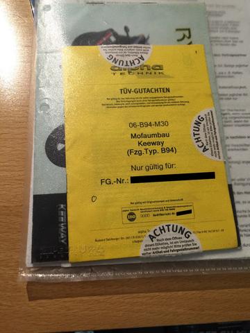 Mofa Umbau Gutachten - (Auto, Mofa, Mofa Umbau gutachten)