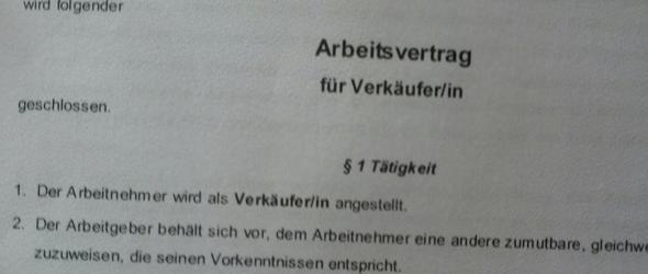 Verkäufervertrag - (Recht, Arbeit, Ausbildung)