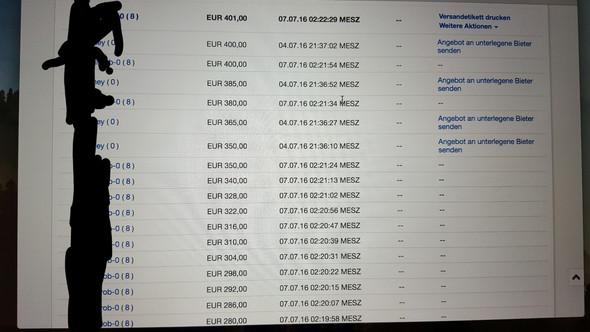 Auktionsprotokoll - (eBay, Auktion)