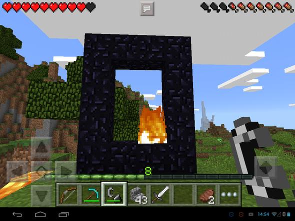 Hier sieht man das portal - (Minecraft, MINECRAFT PE, Netherportal)