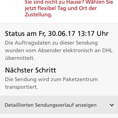 Das Paket wurde am Freitag verschickt aber der Sendungs Status ändert sich nicht - (Status, Sendungsnummer)