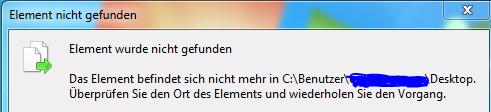 Fehlermeldung - (Windows, löschen, Ordner)