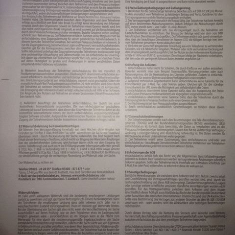 AGB Teil 2 - (Vertrag, Abzocker)