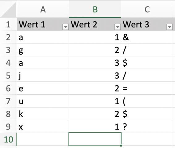 Datensätze aus Excel intelligent exportieren in einzelne Tabellen?