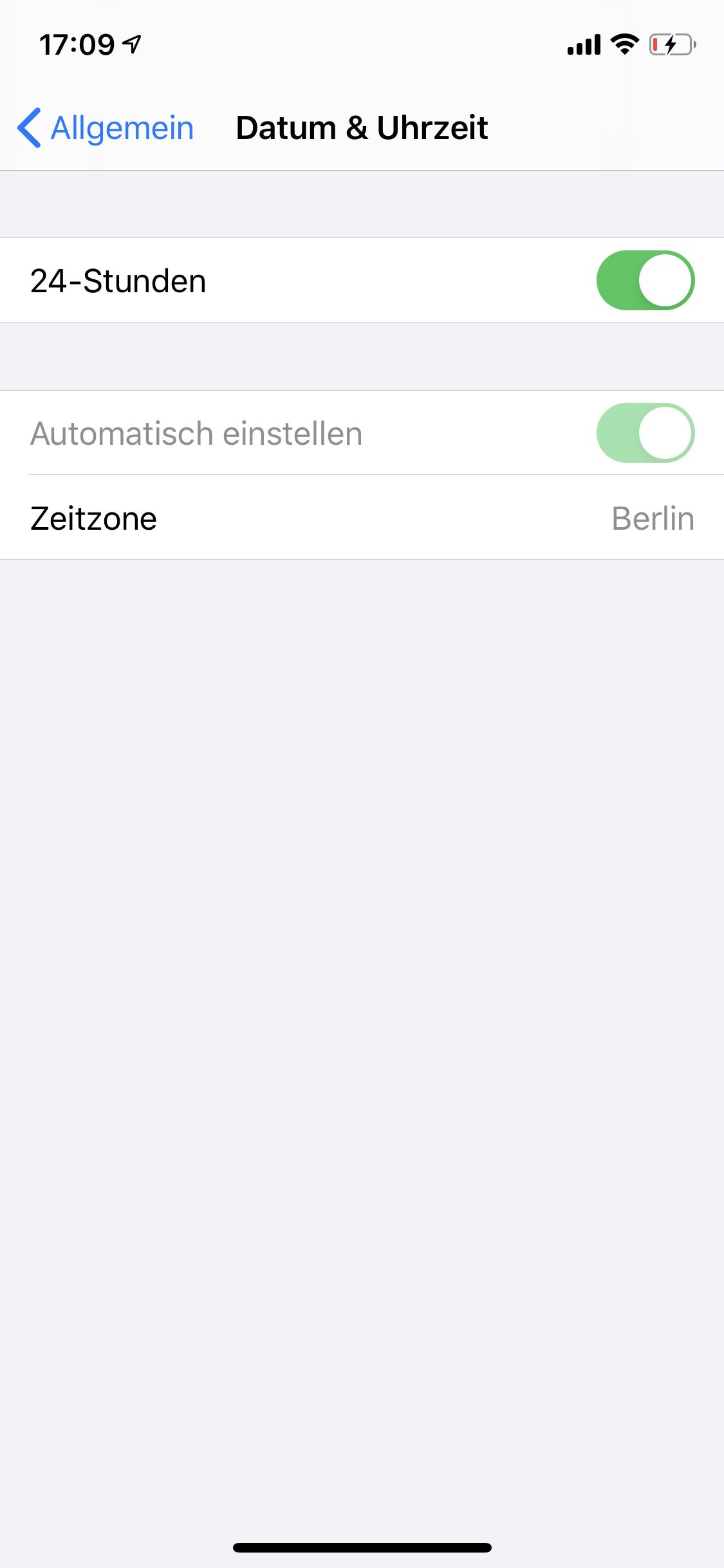iphone uhrzeit einstellen geht nicht