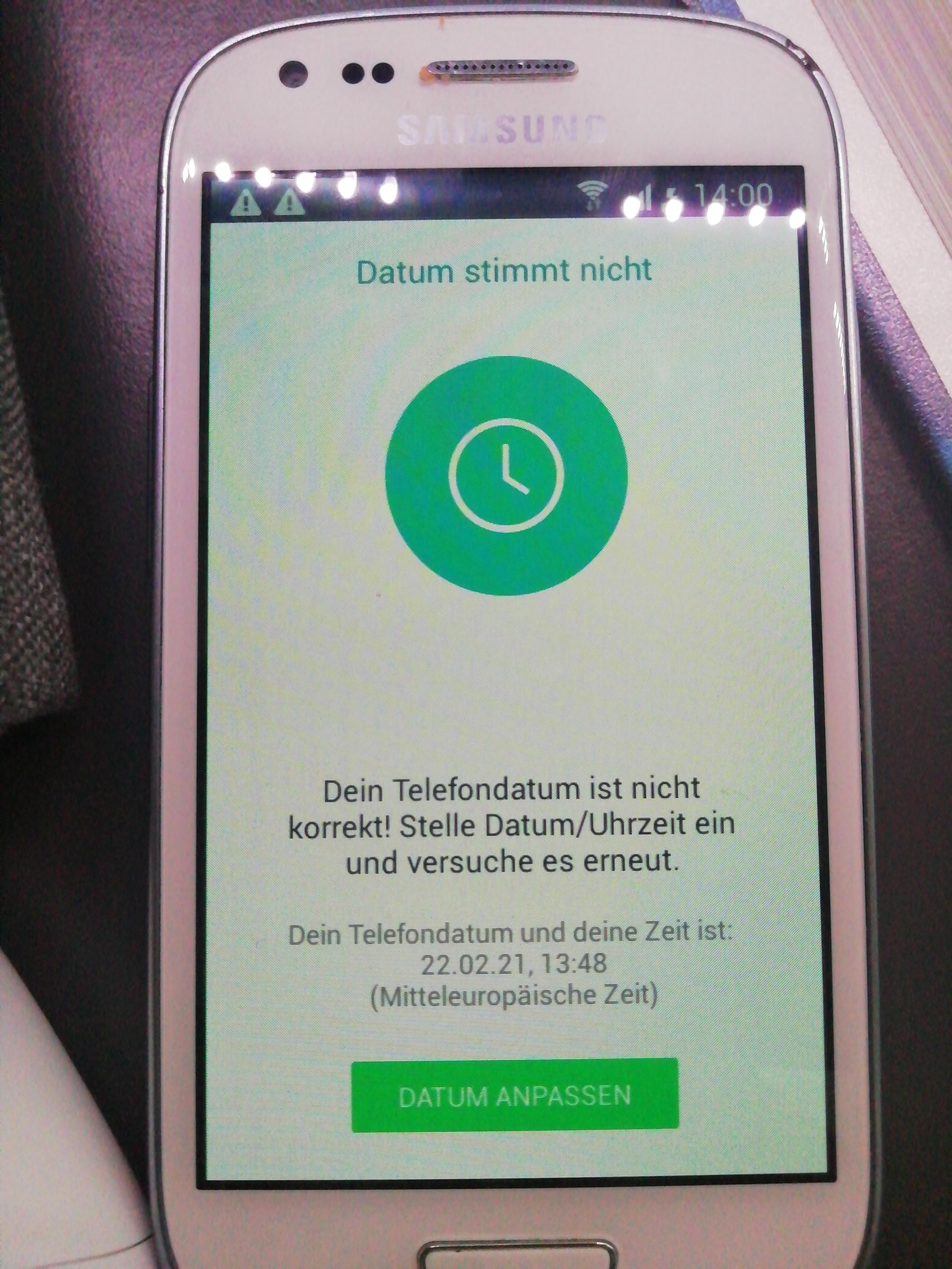 Whatsapp Datum Stimmt Nicht