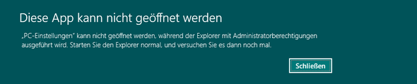 Fehlermeldung - (Explorer, Adminstratorberechtigung)