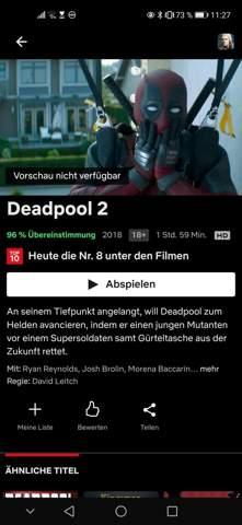 Deadpool 2 ab 18?