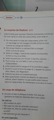 - (Französisch, hilflos)