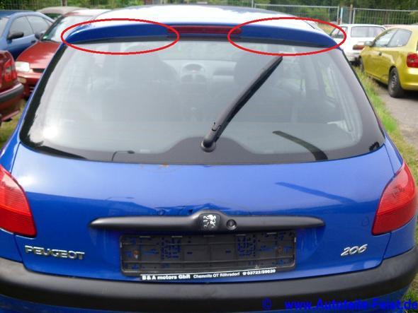 für diese bereiche suche ich deko- bzw zierleisten! - (Tuning, kofferraum, Peugeot 206)