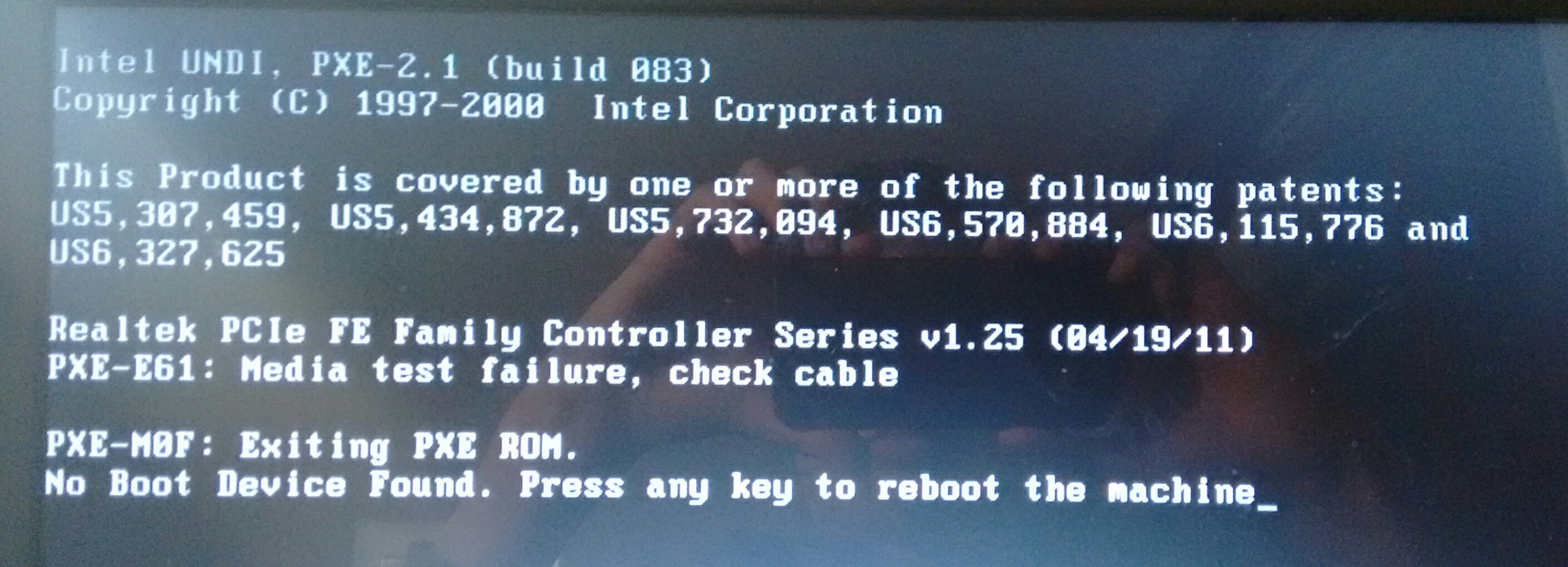dell inspirion no boot device found windows 8 1