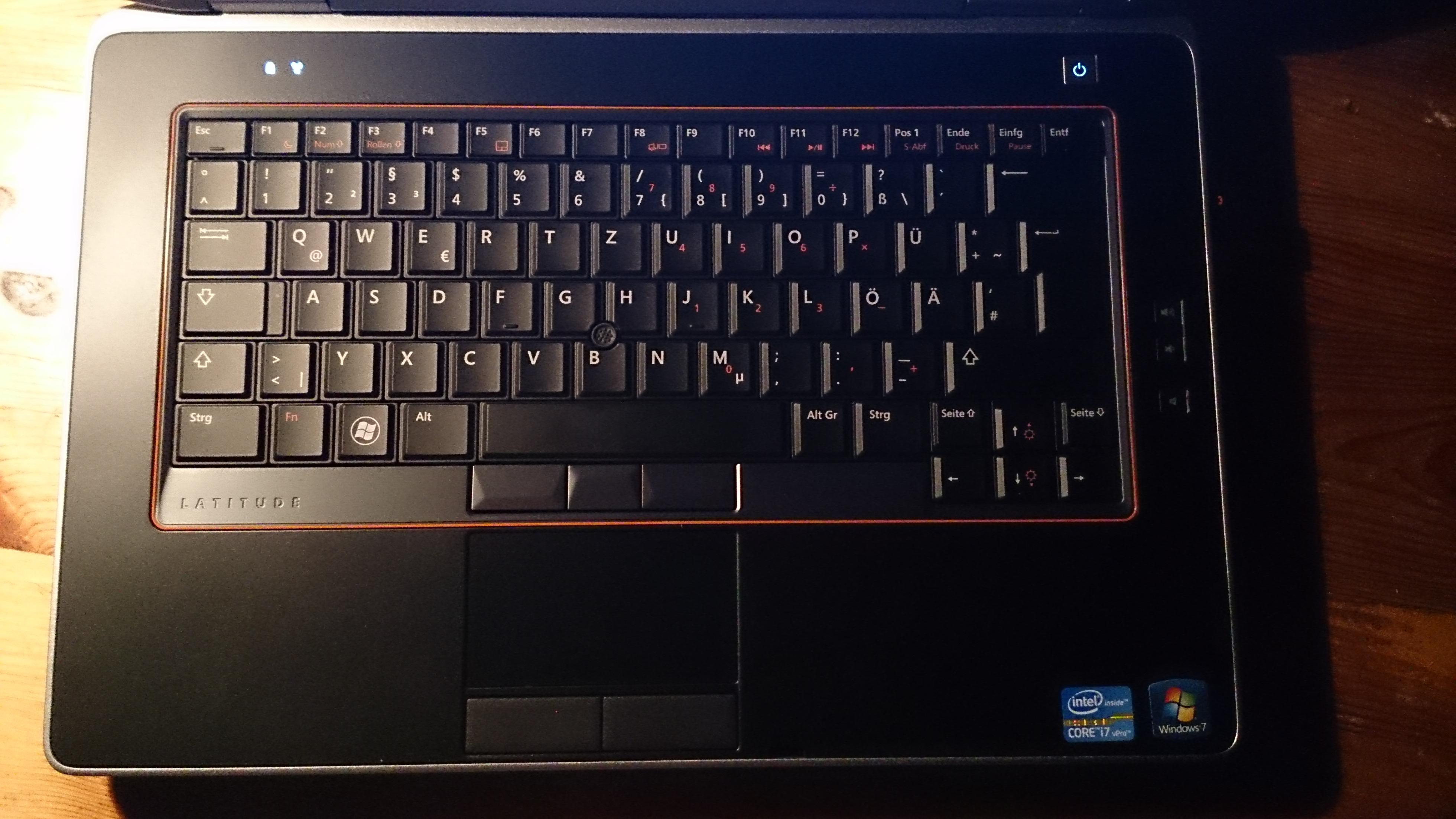 dell latitude e6420 tastaturbeleuchtung aktivieren   computer  pc  notebook