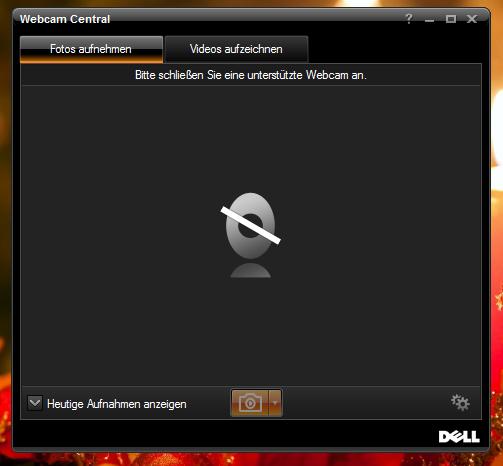 So sieht die Meldung aus - (Computer, Webcam, Dell Laptop)