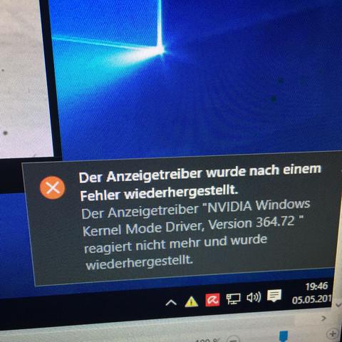 Fehlermeldung  - (Grafikkarte, Windows 10, Nvidia)