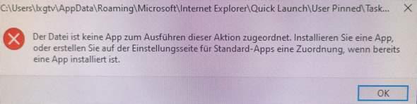 Der Datei ist keine App zum Ausführen dieser aktion zugeordnet. Was tun?